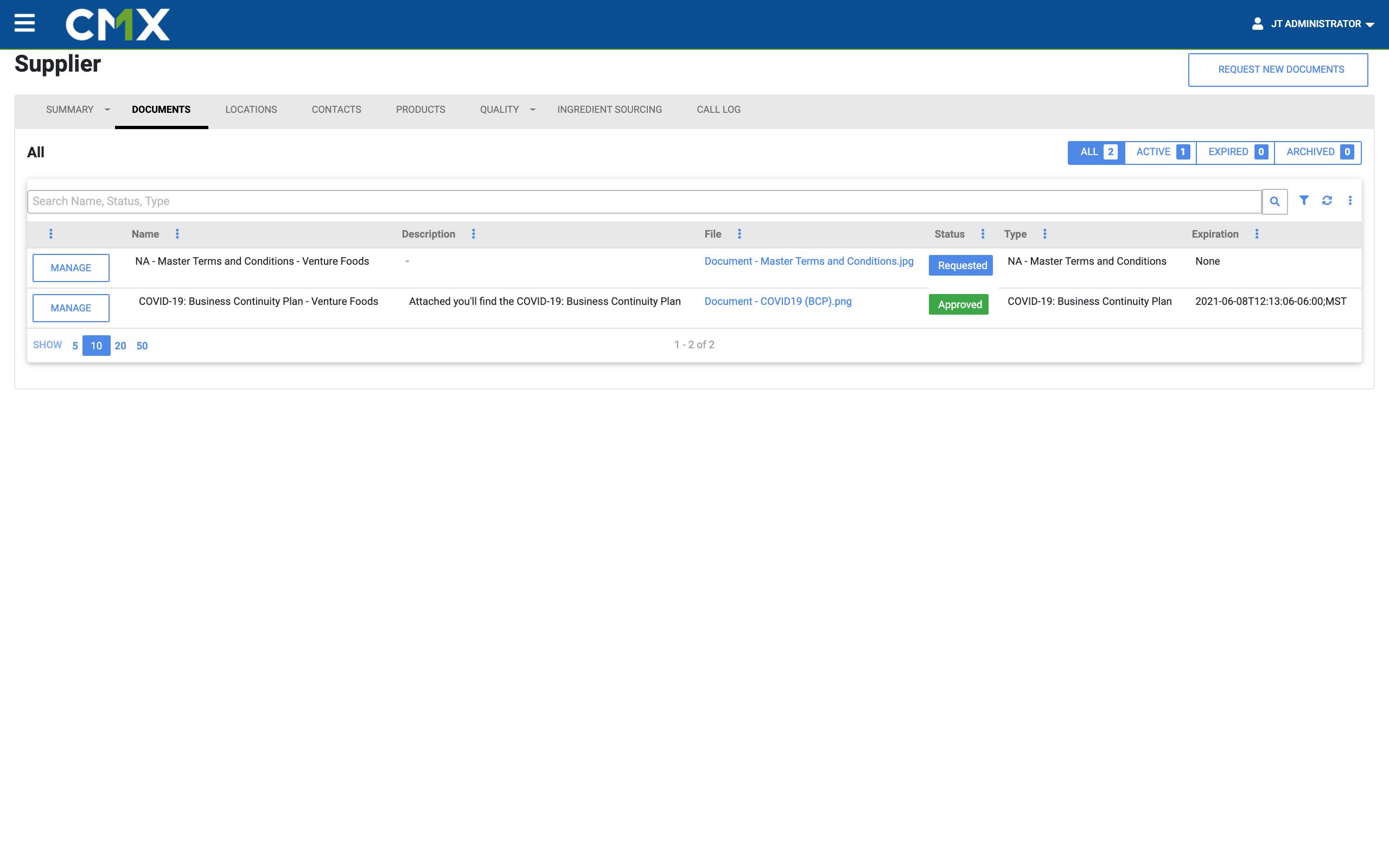 Document Management Supplier View