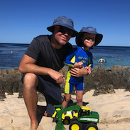 Jeremy at beach
